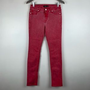 Miss Me Bright Coral Skinny Jeans 30 W3957